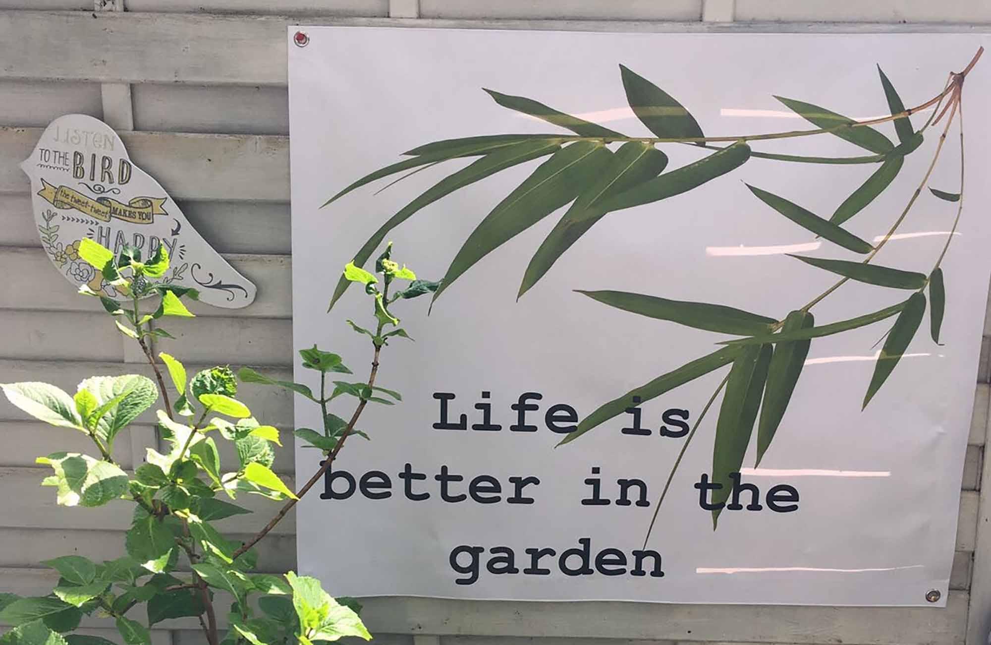 unieke tuinposter